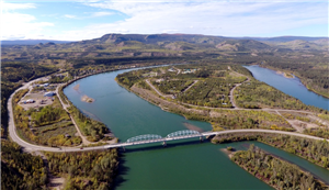 Carmacks Aerial - Bridge